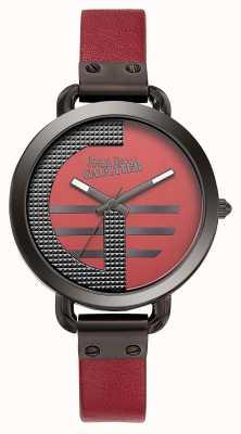 Jean Paul Gaultier Índice de mulheres g pulseira de couro vermelho mostrador vermelho JP8504321