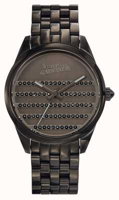 Jean Paul Gaultier Pulseira de metal da Marinha arma e discar JP8502406