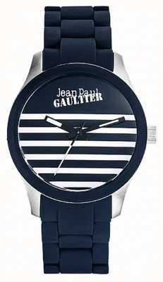 Jean Paul Gaultier Enfants terribles pulseira de aço de borracha azul JP8501118