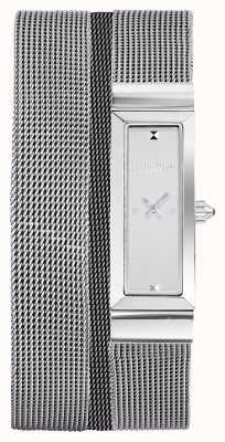 Jean Paul Gaultier Bracelete de malha em aço inoxidável para mulher cote de maille JP8503901