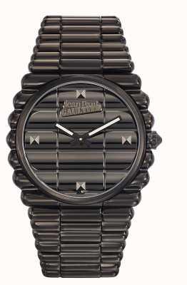 Jean Paul Gaultier Mens bord cote pulseira preta pvd pulseira preta JP8504203