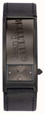 Jean Paul Gaultier Identite cinza pulseira de couro cinzento JP8503703