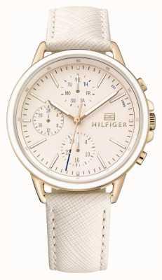Tommy Hilfiger Ouro rosa feminino com pulseira rosa 1781789