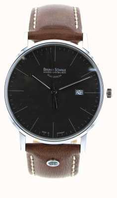 Bruno Sohnle Stuttgart i 42mm relógio de couro marrom 17-13175-841