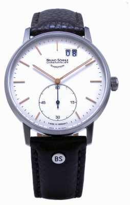 Bruno Sohnle Relógio de couro marrom Stuttgart ii 42mm 17-13179-245