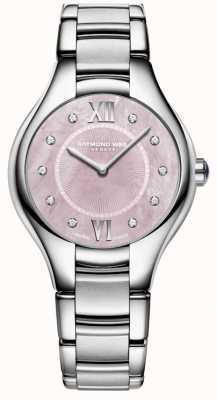 Raymond Weil Mulher noêmia diamante quartzo mãe de pérola relógio 5132-ST-00986