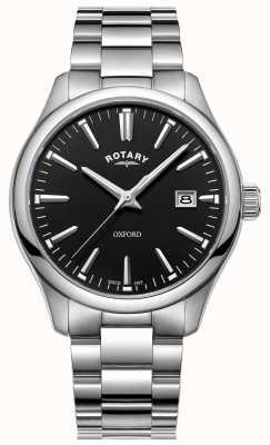 Rotary Pulseira de relógio oxford masculino em aço inoxidável GB05092/04