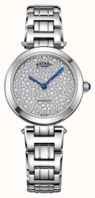 Rotary Kensington rotativo pavimenta o relógio de quartzo de aço LB05190/33