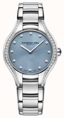 Raymond Weil Mostrador do bracelete de aço inoxidável do diamante do noemia das mulheres 5132-STS-50081