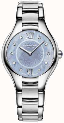 Raymond Weil Mostrador do bracelete de aço inoxidável do diamante do noemia das mulheres 5132-ST-00955