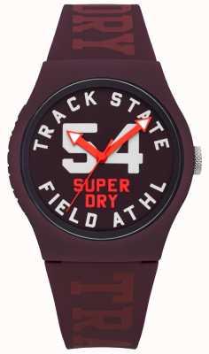 Superdry Faixa de estado de impressão dial amoreira face amoreira cinta SYL182RR