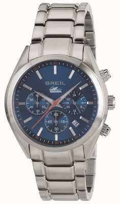 Breil Manta city aço inoxidável cronógrafo pulseira de discagem azul TW1605