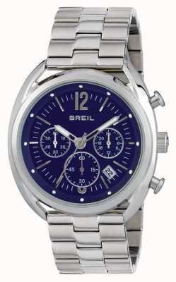 Breil Dial de cronógrafo de aço inoxidável Beaubourg azul TW1665