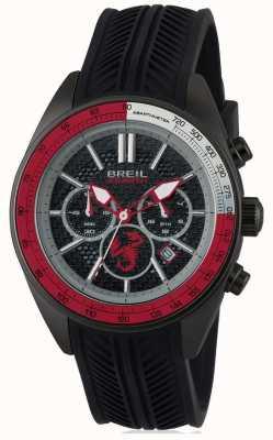 Breil Abarth aço inoxidável ip preto cronógrafo preto e vermelho dia TW1693
