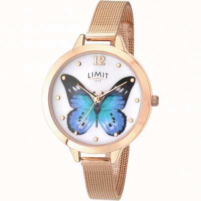 Limit Relógio de borboleta rosa de jardim secreto das mulheres 6271.73