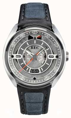 REC Porsche automatic grey alcantara pulseira de couro cinzento mostrador p-901-01