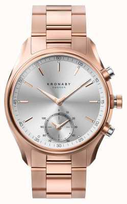 Kronaby 43mm sekel bluetooth rosa ouro pulseira de metal smartwatch A1000-2745
