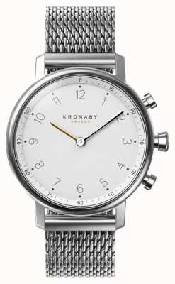 Kronaby Smartwatch de aço do bracelete da malha do bluetooth do nord de 38mm A1000-0793