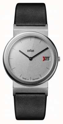 Braun Classic 1989 homenagem design pulseira de couro preto cinza AW50