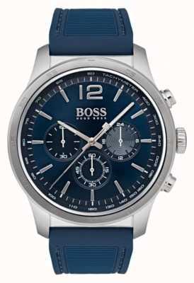 Hugo Boss Mens relógio cronógrafo profissional azul 1513526