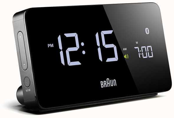 Braun Despertador digital bluetooth preto BNC020BK