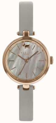 Radley Senhoras 28 milímetros caso cinza pulseira de couro cinza de discagem RY2658