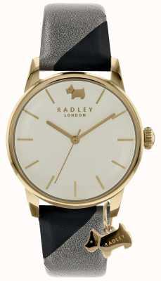 Radley Senhoras 35mm caso dial discagem com charme cão tinta / cinza RY2648