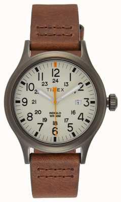 Timex Aliada 40 pulseira de couro marrom / dial natural TW2R46400