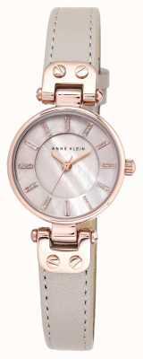 Anne Klein Womens lynn watch subida de ouro caso pulseira de couro AK/N1950RGTP