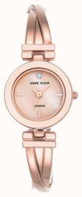 Anne Klein Womens leah subiu pulseira de tom de ouro branco discagem AK/N2622WTRG