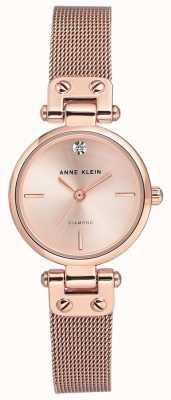 Anne Klein Pulseira de malha de ouro rosa isabel das mulheres e mostrador AK/N3002RGRG