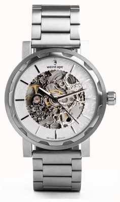 Weird Ape Kolt pulseira de aço inoxidável prata e prata de discagem de prata WA02-005536