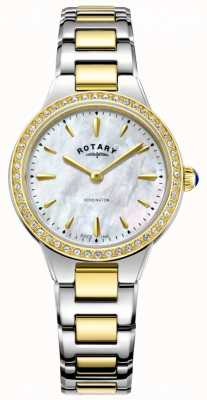 Rotary | mulheres | kensington | pulseira de dois tons | conjunto de cristal | LB05276/41