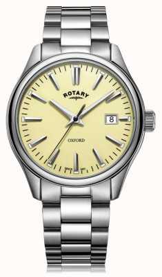 Rotary Mens oxford pulseira de aço inoxidável GB05092/32