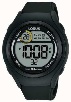 Lorus Unisex lorus borracha digital esportes assistir preto R2373LX9