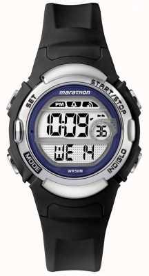 Timex Relógio de borracha preta de maratona TW5M14300