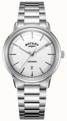 Rotary Barcelet de aço inoxidável do relógio do avenger dos homens GB05340/02