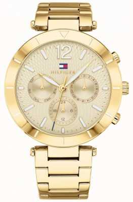 Tommy Hilfiger Chloe Womens relógio dia data pulseira de ouro tom 1781878