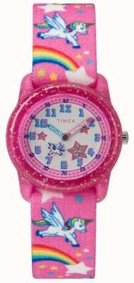 Timex Relógio de unicórnio analógico de juventude TW7C255004E