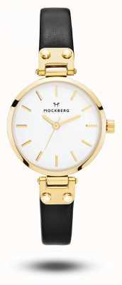 Mockberg Mostrador branco com pulseira preta saga feminina saga MO207