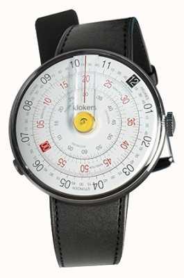 Klokers Klok 01 cabeça de relógio amarelo cinta única de cetim preto KLOK-01-D1+KLINK-01-MC1