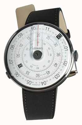 Klokers Klok 01 preto relógio cabeça mat preto cinta dupla KLOK-01-D2+KLINK-02-380C2
