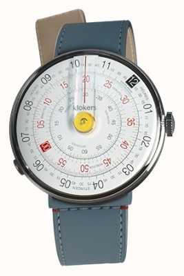 Klokers Klok 01 cabeça de relógio amarelo blue jean strait single strap KLOK-01-D1+KLINK-04-LC10