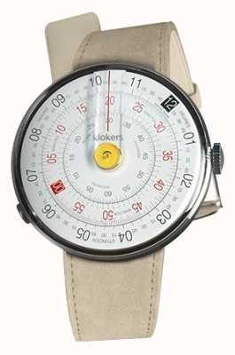 Klokers Klok 01 amarelo relógio cabeça cinza alcantara única alça KLOK-01-D1+KLINK-01-MC6
