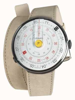 Klokers Klok 01 amarelo relógio cabeça cinza alcantara dupla alça KLOK-01-D1+KLINK-02-380C6