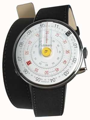 Klokers Klok 01 amarelo relógio cabeça mat preto 420mm dupla alça KLOK-01-D1+KLINK-02-420C2