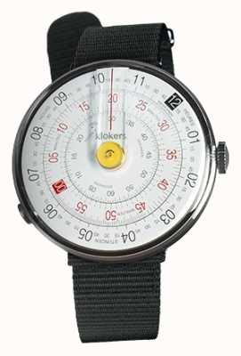 Klokers Klok 01 pulseira de relógio amarelo preto cinta única têxtil KLOK-01-D1+KLINK-03-MC3