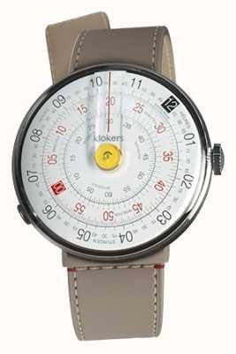 Klokers Klok 01 cabeça de relógio amarelo grege strait single strap KLOK-01-D1+KLINK-04-LC9
