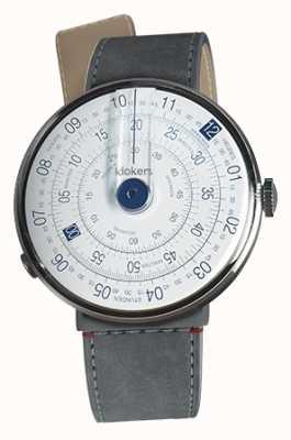 Klokers Klok 01 blue watch head cinza alcantara estreito cinta única KLOK-01-D4.1+KLINK-04-LC11