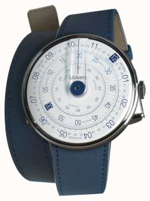 Klokers Klok 01 blue watch head azul escuro alça dupla KLOK-01-D4.1+KLINK-02-380C3